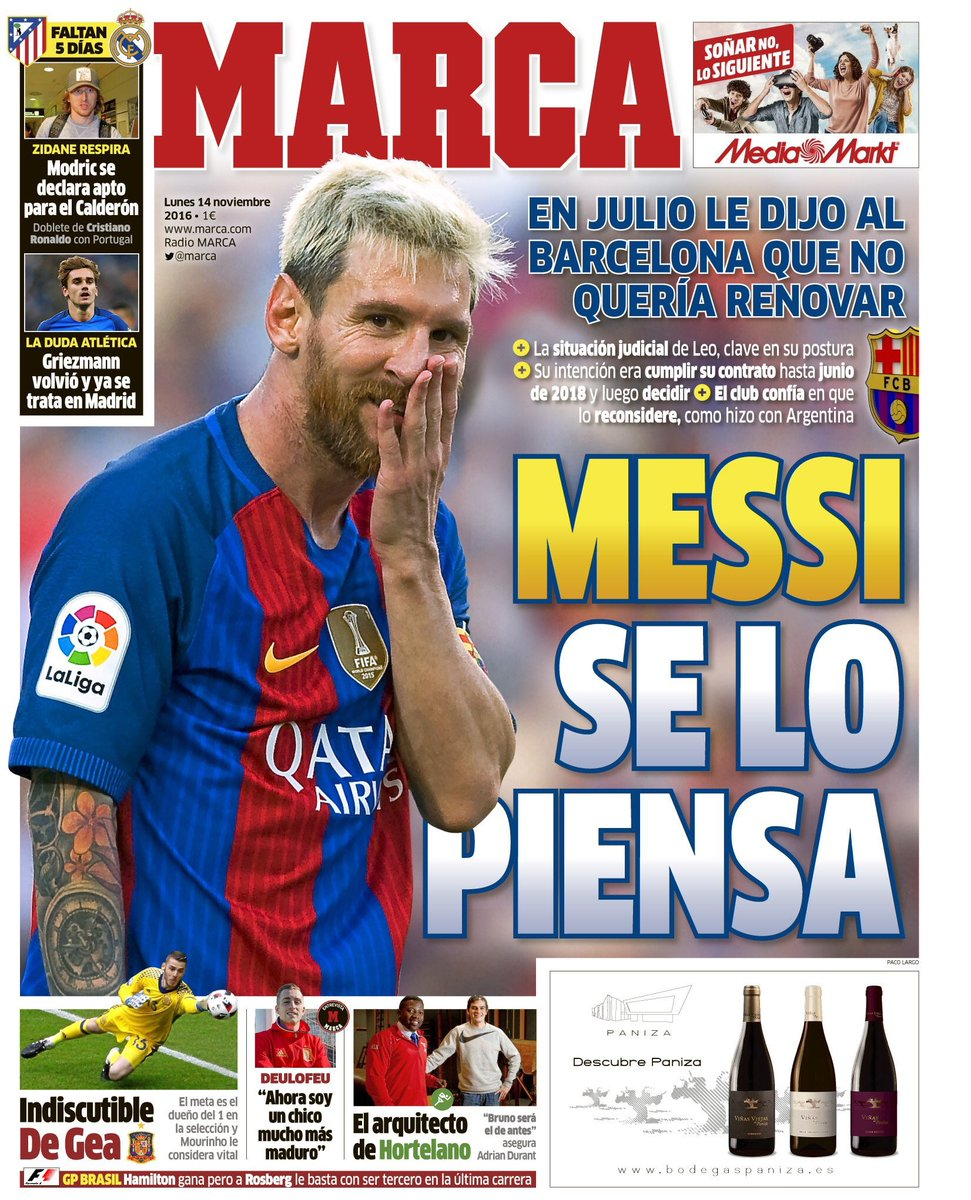 Barça : Messi refuse de prolonger !
