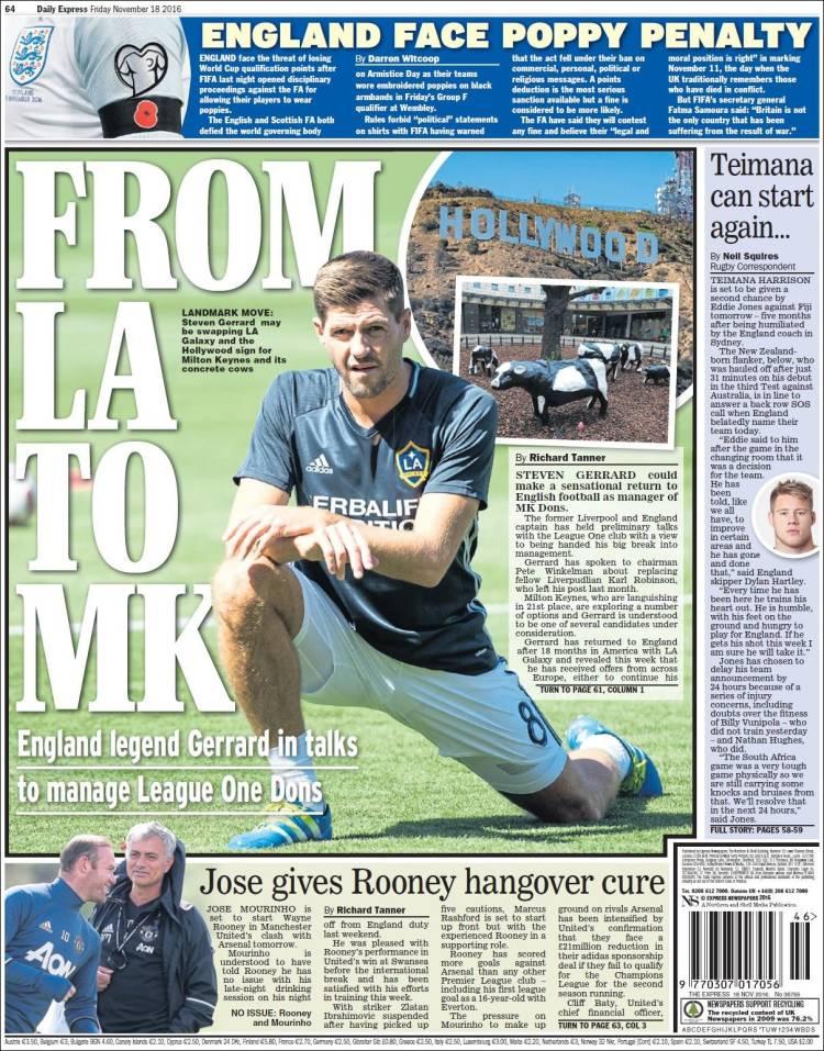 Steven Gerrard futur entraineur de Milton Keynes Dons ?