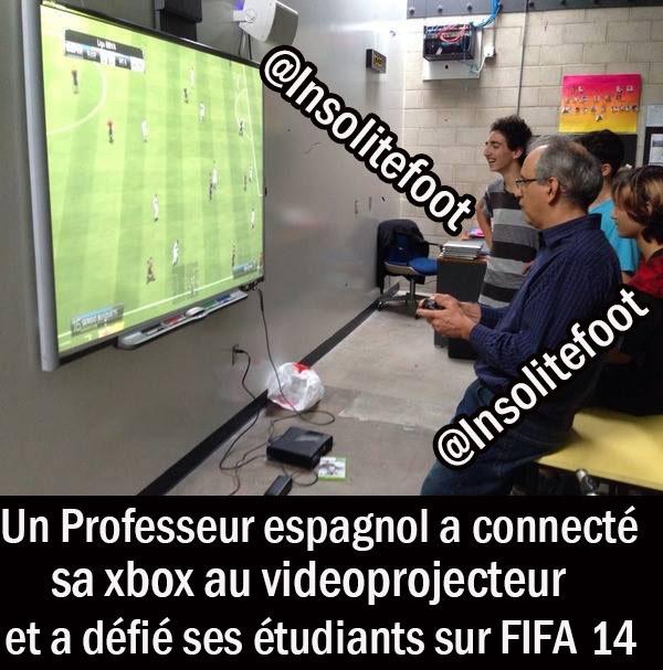 Un professeur espagnol a défié ses étudiants sur FIFA 14 !!!
