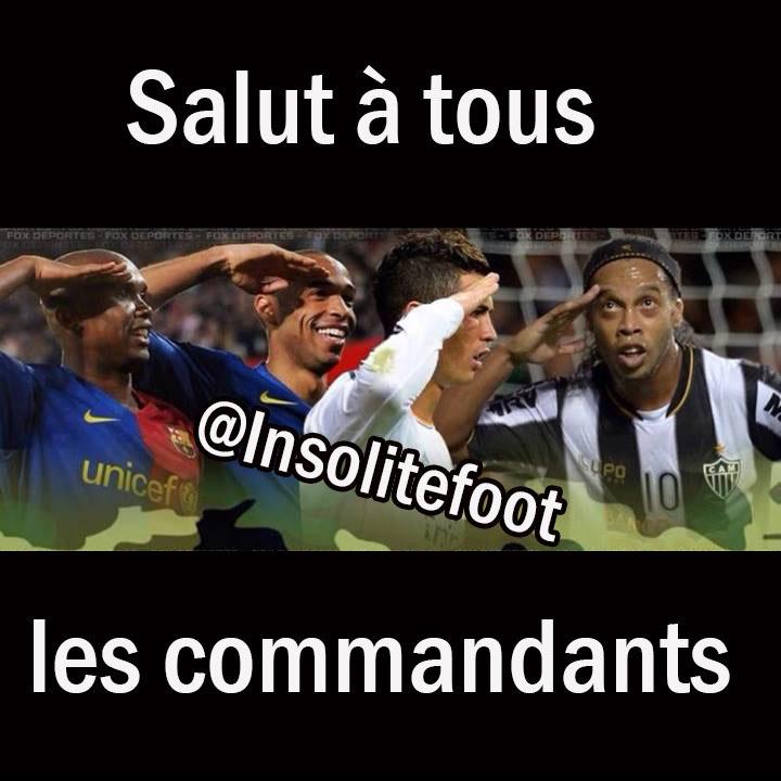 Salut à tous les commandants Ronaldo, Ronaldinho, Henry et Eto'o !!!