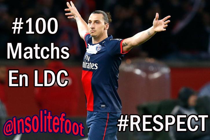 LDC : Zlatan Ibrahimovic disputera ce soir son centième match de Ligue des Champions !!