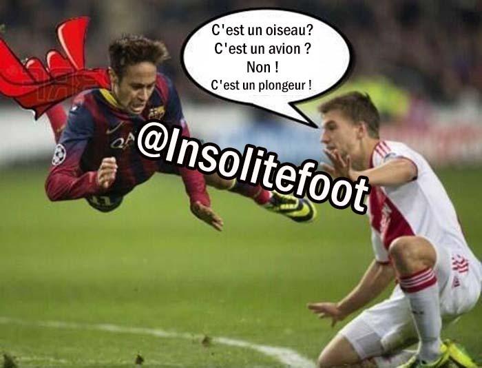 Neymar, c'est un plongeur !!!