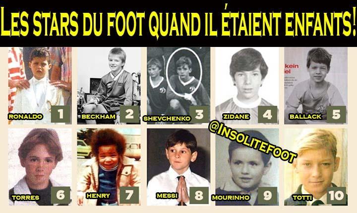 Les stars du foot quand il étaient enfants!