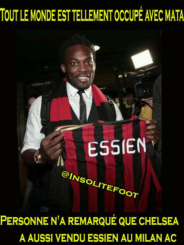 Michael Essien de Chelsea à l'AC Milan