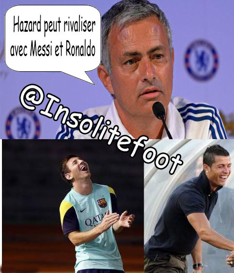 "Mourinho : ""Hazard peut rivaliser avec Messi et Ronaldo"""