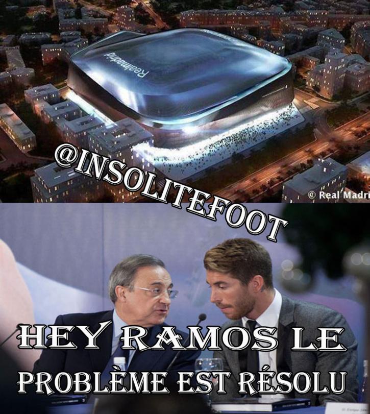 Real Madrid : Voilà le futur Santiago Bernabeu qui plait beaucoup à Ramos!!!