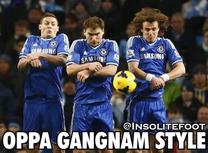 Les joueurs de Chelsea dansent le Gangnam Style!!!
