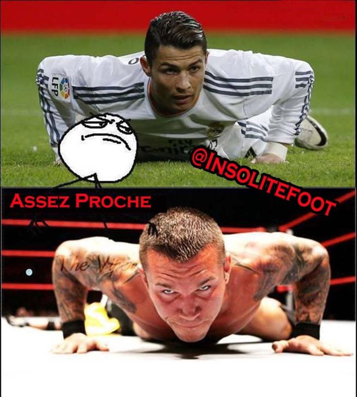 Assez Proche : Cristiano Ronaldo et Randy Orton!!!