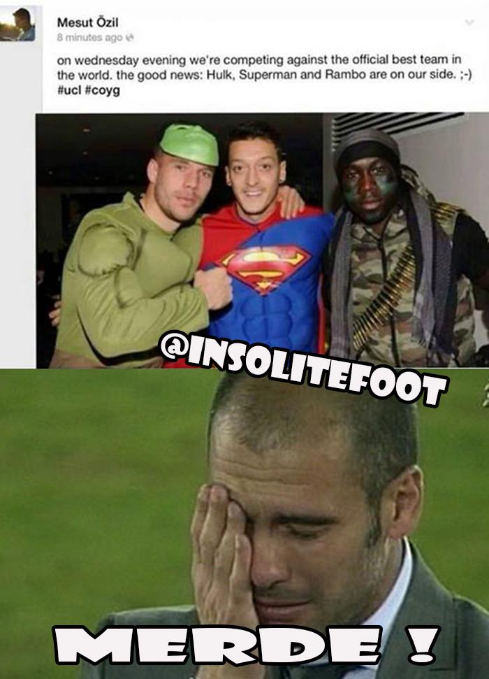 Ligue des champions :  Özil en Superman face au Bayern !