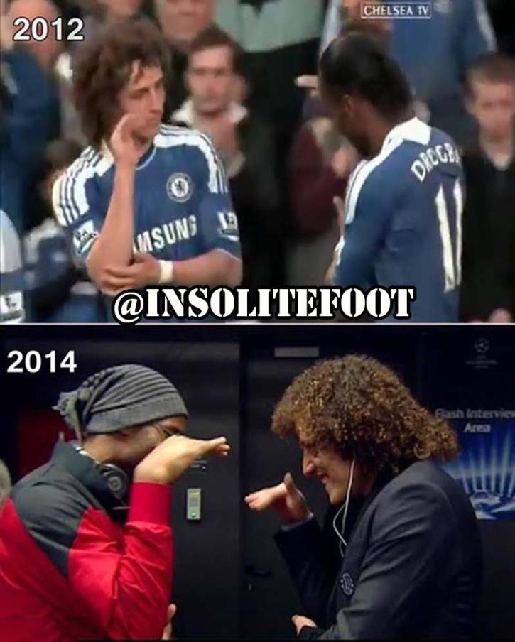 Chelsea : Didier Drogba et David Luiz, certaines choses ne changent jamais!