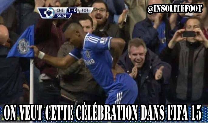 Chelsea : Eto'o marque et mime un vieillard