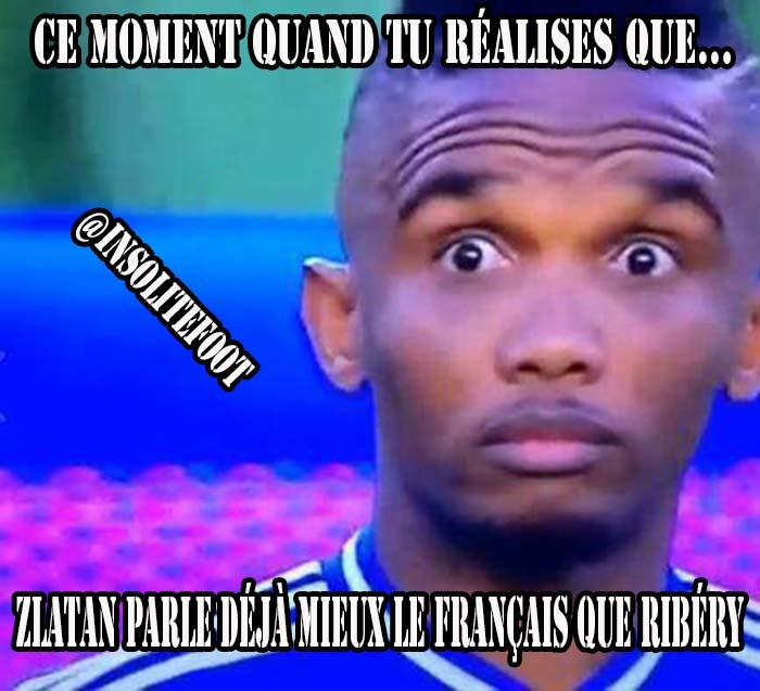 Zlatan Ibrahimovic parle français!