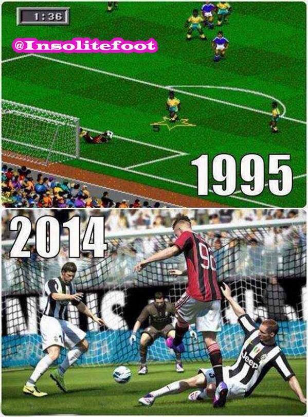 L'évolution du jeu FIFA !!!