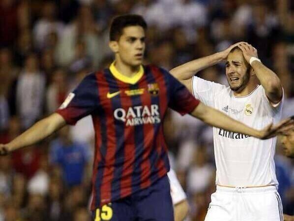 La réaction de Karim Benzema après le but de Bartra!