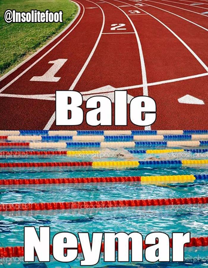 Voilà la différence entre Bale et Neymar!!!