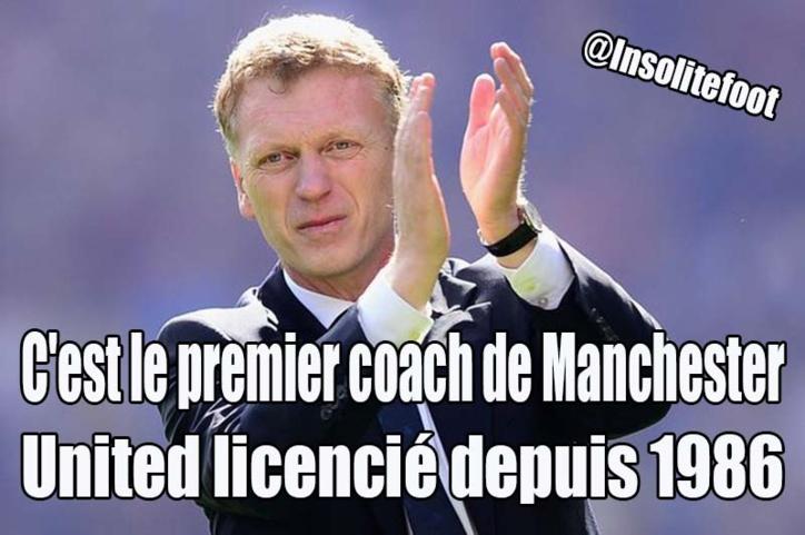 David Moyes, C'est le premier coach de Manchester United licencié depuis 1986