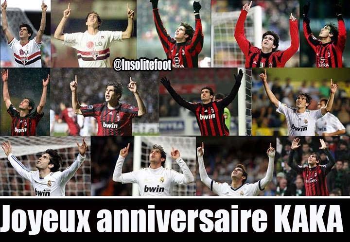 Joyeux anniversaire, Kaka fête aujourd'hui ses 32 ans
