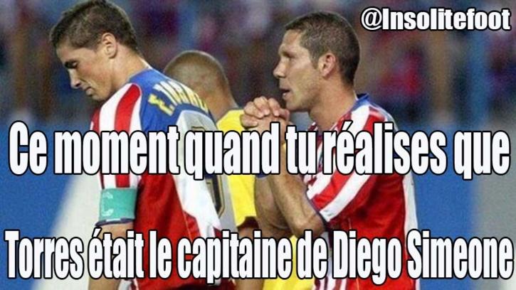 Saviez vous que Torres était le capitaine de Diego Simeone ?