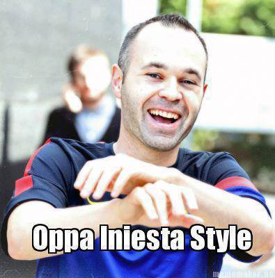 Oppa Iniesta Style !!!