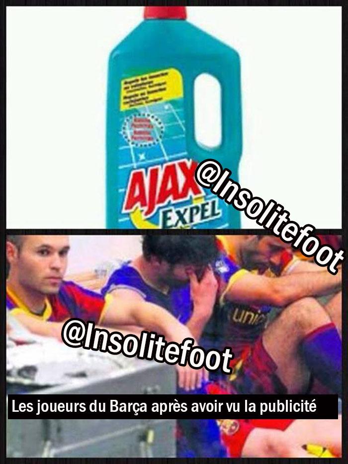 La publicité qui fait mal aux joueurs du Barça !!