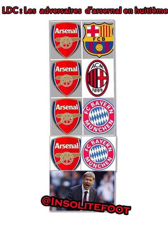 La malchance d'Arsenal!