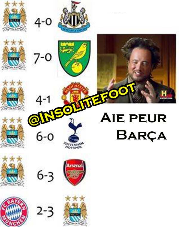 Man City fait peur au Barça !