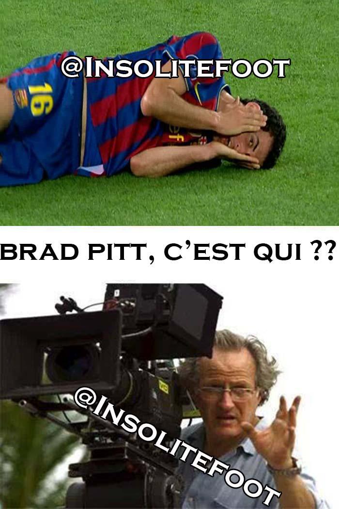 Humour : Sergio Busquets meilleur acteur que Brad Pitt!
