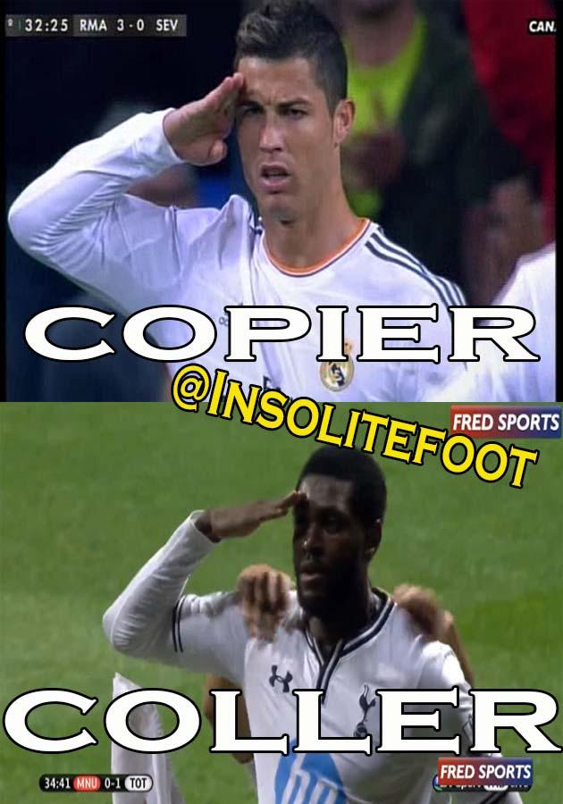 Tottenham : Adebayor célèbre un but à la Ronaldo!