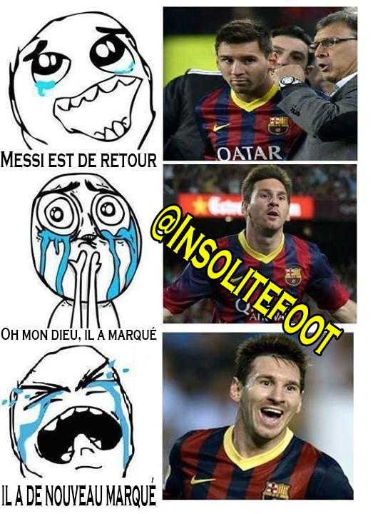 Les Fans de Messi hier soir.