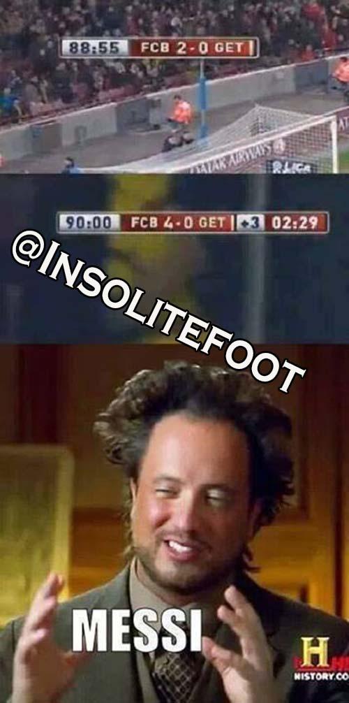 Vous savez que c'est Messi quand cela arrive!