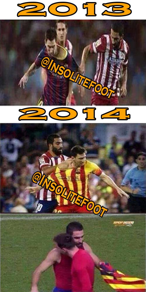 Arda Turan semblait tellement vouloir son maillot que Messi a fini par lui donner!