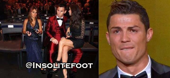 Les larmes de Cristiano Ronaldo, du ballon d'or 2013