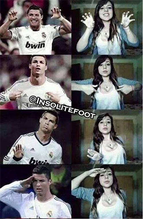 L'art de célébrer un but à la Ronaldo!!!