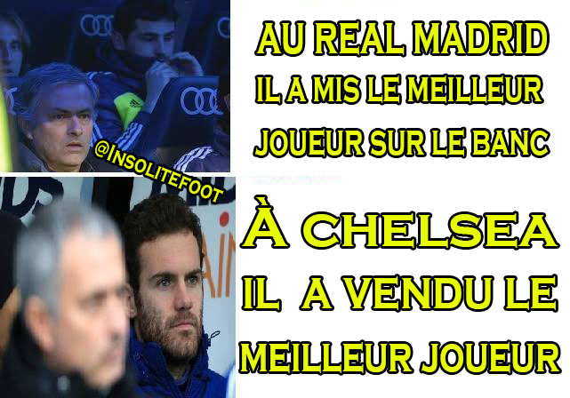 La logique de José Mourinho!!!!