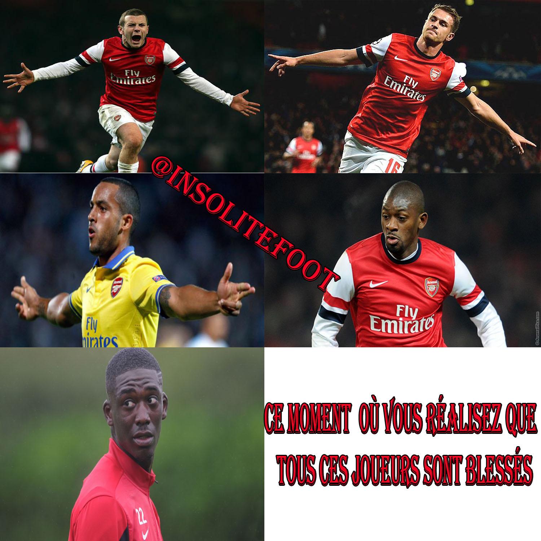 Arsenal : Pluie de blessés pour Arsène Wenger!!!