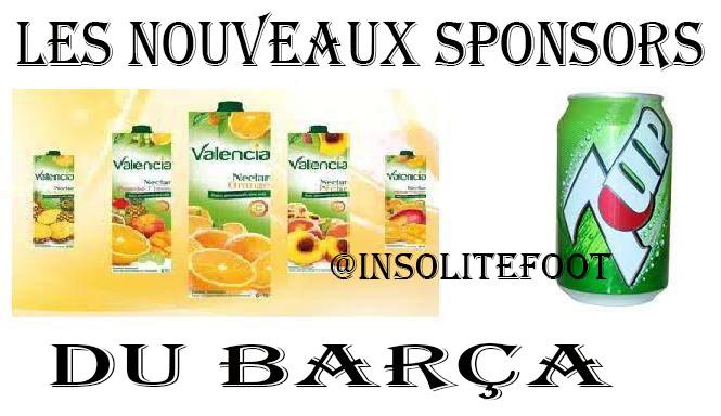 Deux nouveaux sponsors pour le Barça!!!