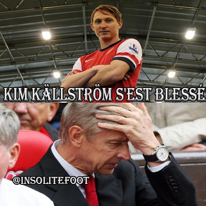 Kim Källström déjà à l'infirmerie d'Arsenal!!