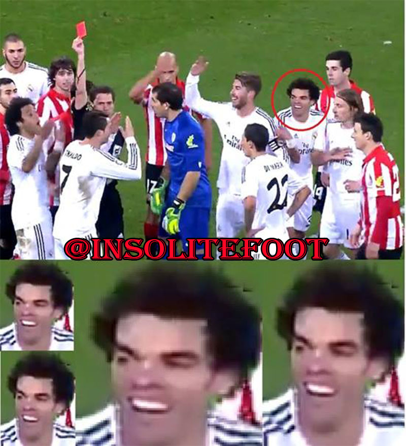 Ronaldo expulsé, Pepe l'apprécie !!!