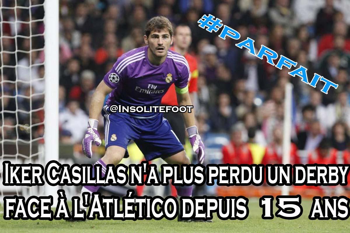Iker Casillas n'a plus perdu un derby face à l'Atlético depuis 15 ans !