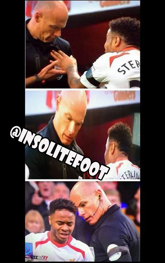 Arsenal-Liverpool : Ce moment où sterling a touché Howard Webb