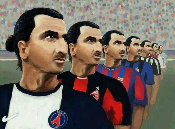 La carrière de Zlatan Ibrahimovic en une seule image
