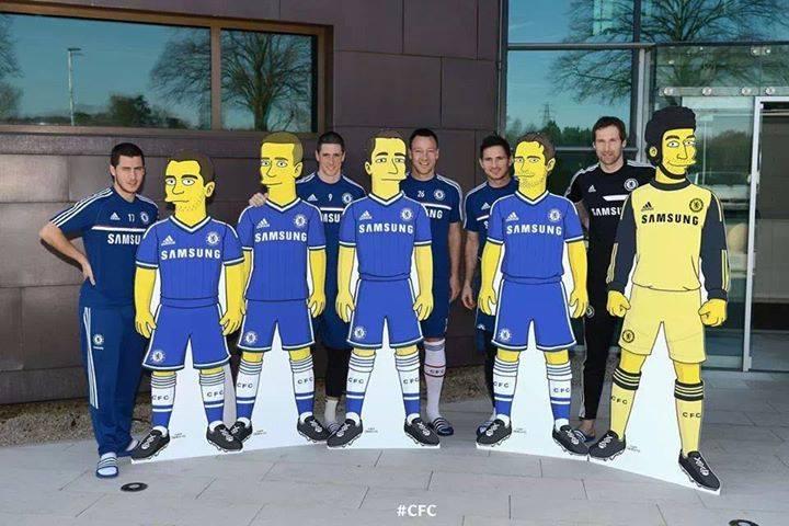 Chelsea signe avec les Simpsons