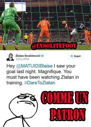 """PSG-Ibra : """"Hey, Blaise Matuidi, j'ai vu ton but d'hier. Magnifique. Tu as dû observer Zlatan à l'entraînement"""""""