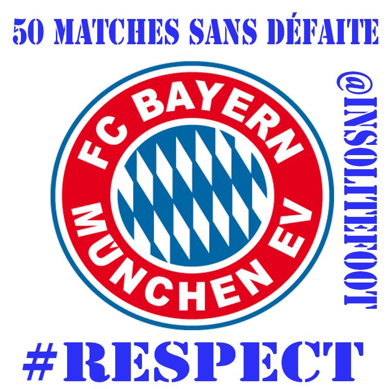Bayern Munich, 50 matches sans défaite