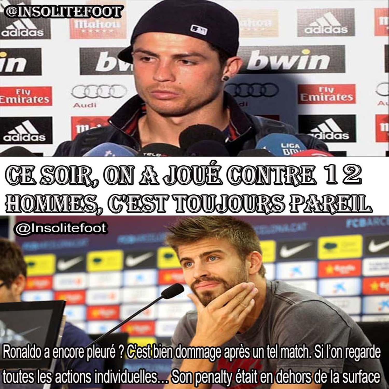 Piqué : Ronaldo pleure encore ?