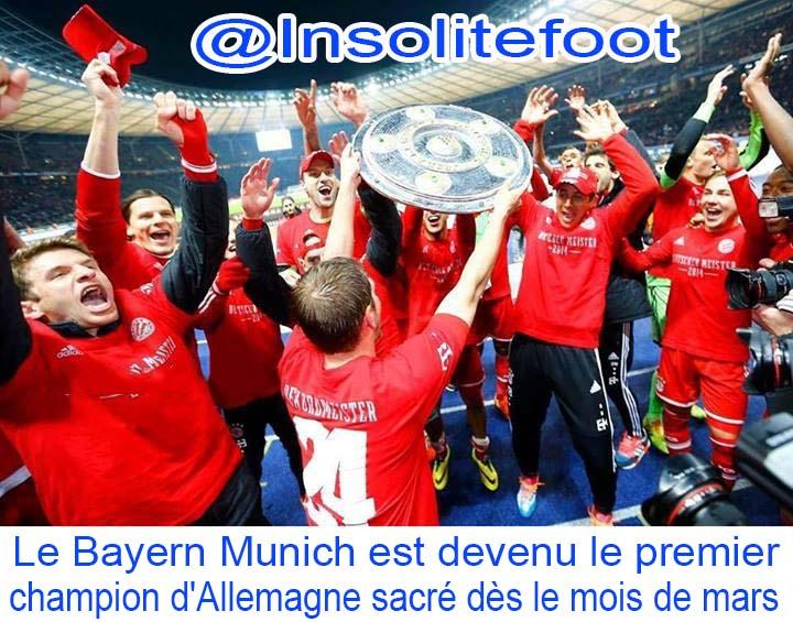 Le Bayern Munich est devenu le premier champion d'Allemagne sacré dès le mois de mars!