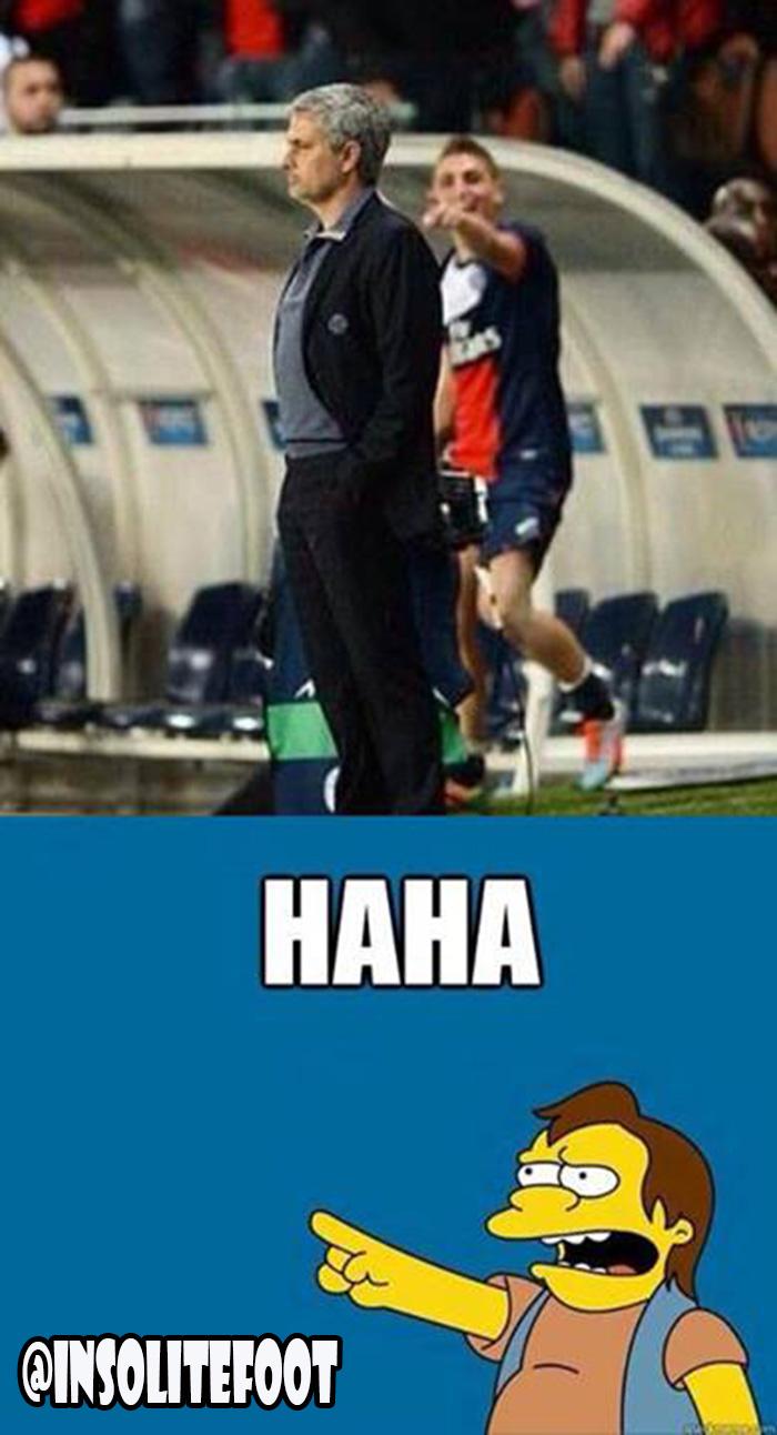 Quand Verratti se moque du Mourinho!