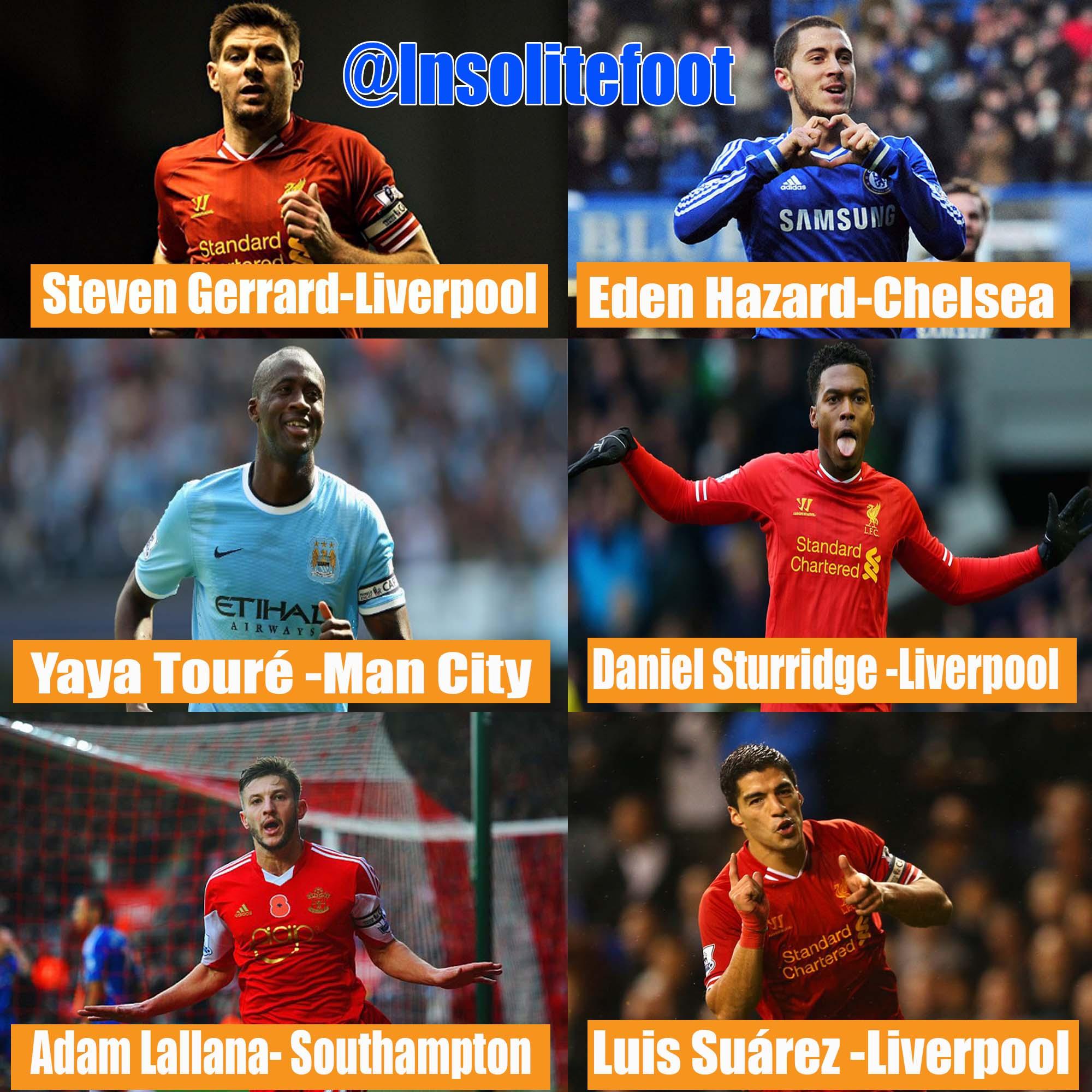 Premier League : Six nommés pour le joueur de l'année!
