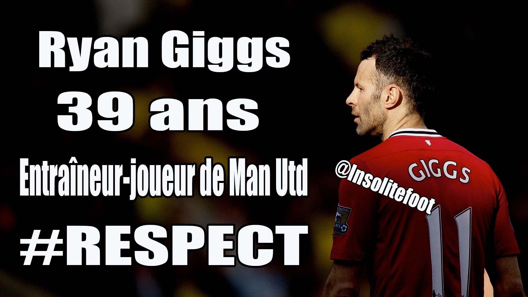 Ryan Giggs assurera l'intérim sur le banc de Manchester United