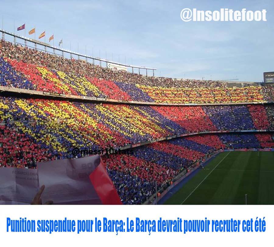 Le FC Barcelone devrait pouvoir recruter cet été